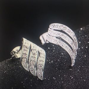 Curving Ear Stud Exquisite Earrings